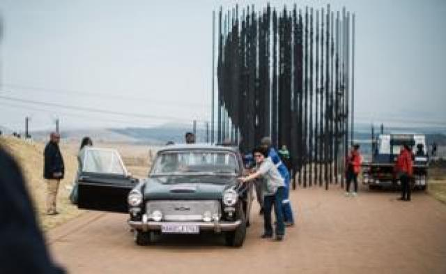 The unveiling of the identical car used by the police to arrest anti-apartheid icon Nelson Mandela 56 years ago in Howick, some 125 km (78 miles) outside Durban - Saturday 5 August 2018