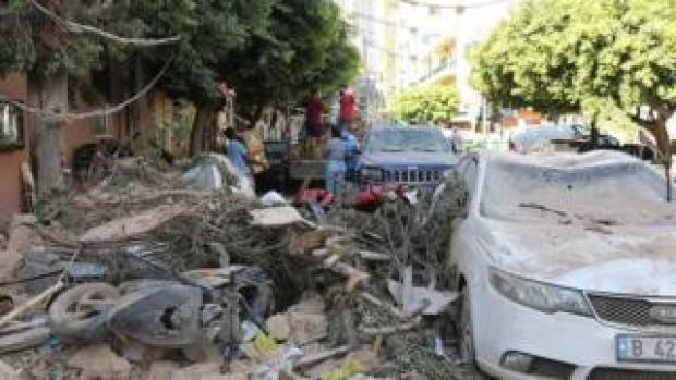 Scene from aftermath of the deadly explosion in Beirut