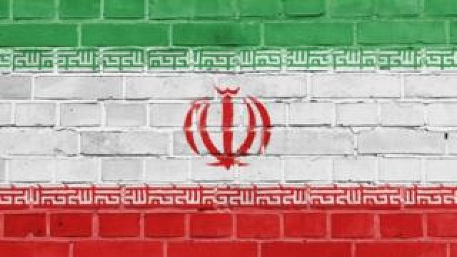 Iranian flag painted on wall