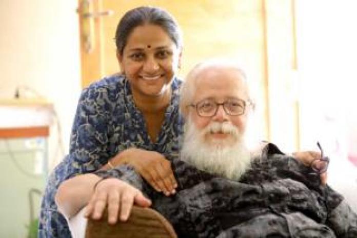 Food Nambi Narayanan with his daughter