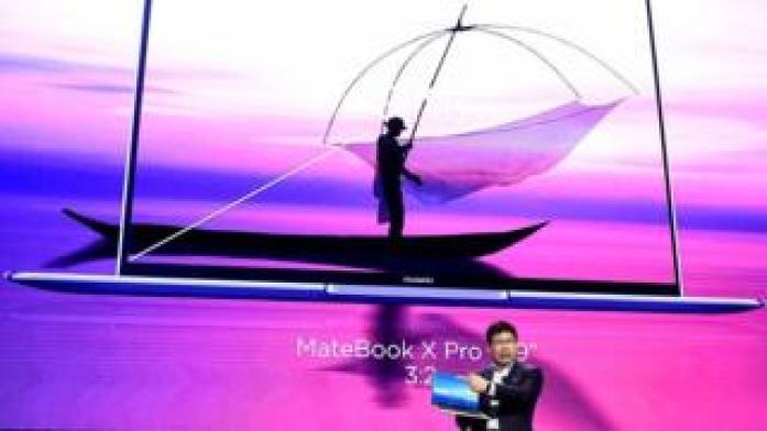 Richard Yu and Huawei laptop
