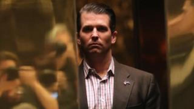 Donald Trump Jr at Trump Tower in New York City, 18 January 2017
