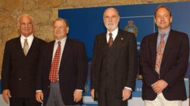Larry Roberts and other internet pioneers