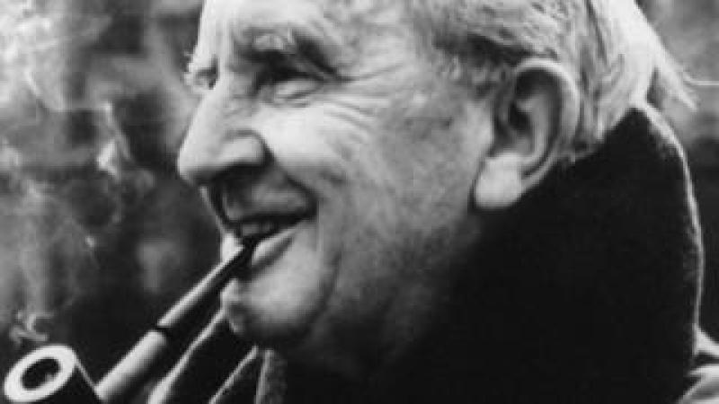 JRR Tolkien smoking a pipe