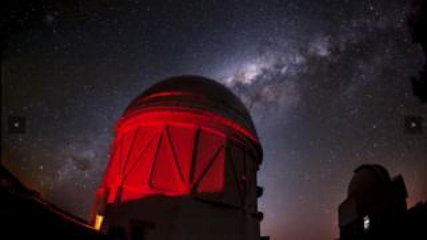 Telescopio Blanco y la Vía Láctea