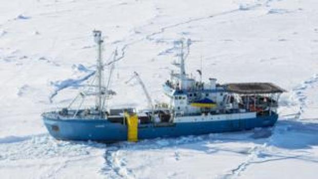 Norwegian research vessel Lance, file pic - 21 Apr 15