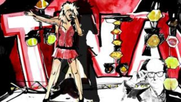 Graphic illustrating review of The Tina Turner Musical
