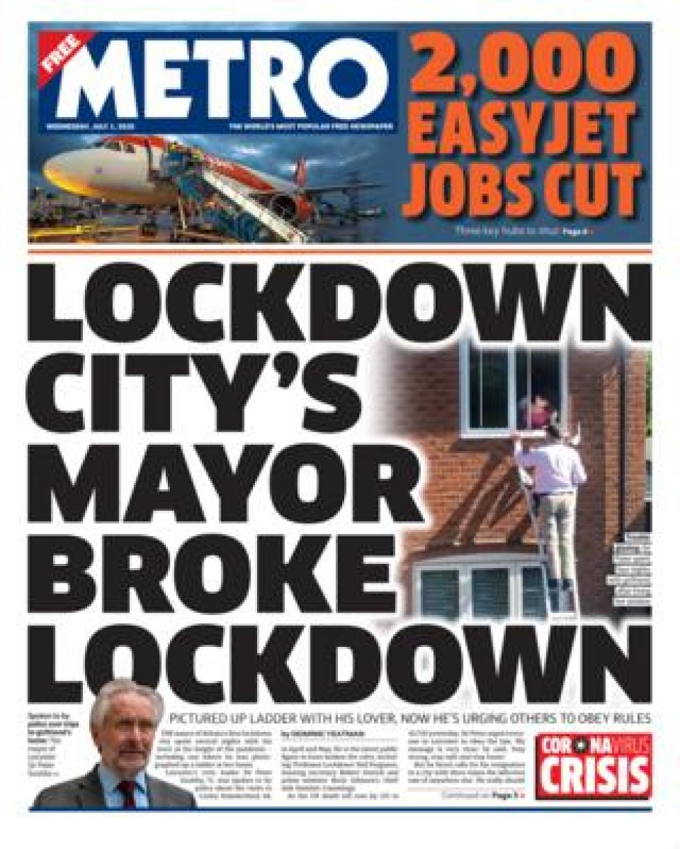 Metro front page 1.07.20