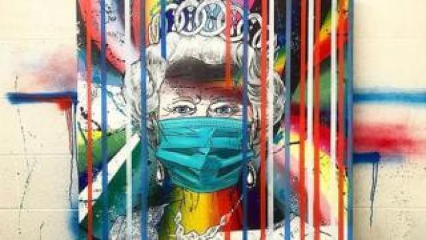 Emelie Hryhoruk's artwork of the Queen