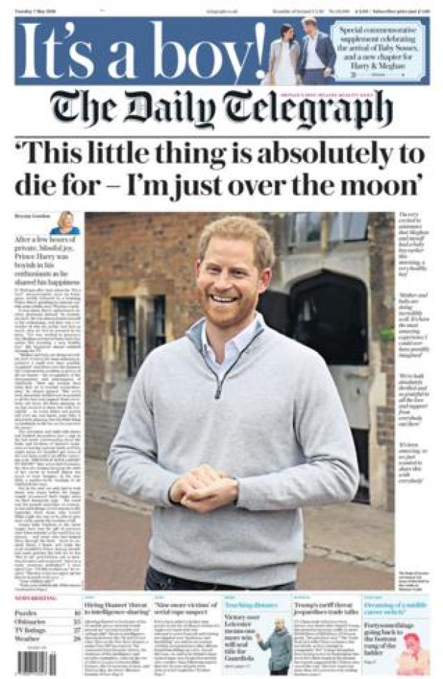 The Telegraph front page 07/05/19