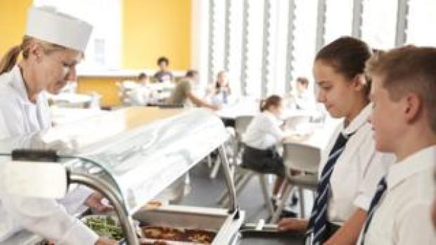 Children in a canteen