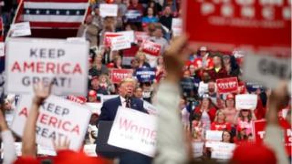 trump U.S. President Donald Trump speaks at a campaign rally in Charlotte, North Carolina, U.S., March 2, 2020