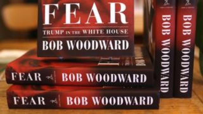 New copies of Fear, an exposé in the Trump White House by Bob Woodward
