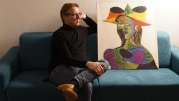 Arthur Brand with Buste de Femme (Dora Maar)