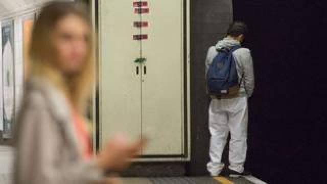 Man urinates on London Underground