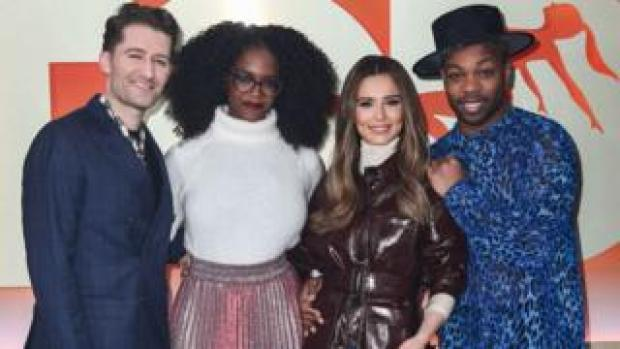 Dance captains Matthew Morrison, Oti Mabuse, Cheryl and Todrick Hall