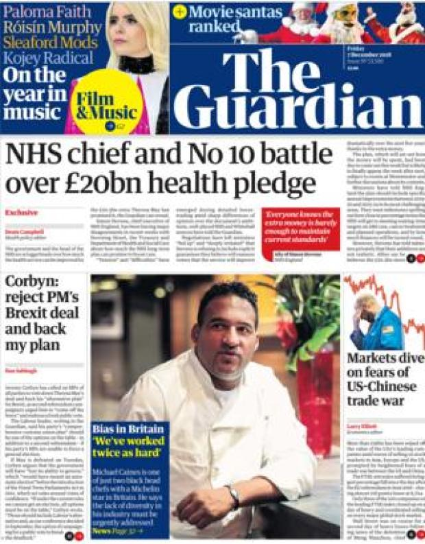 The Guardian front page, 7/12/18