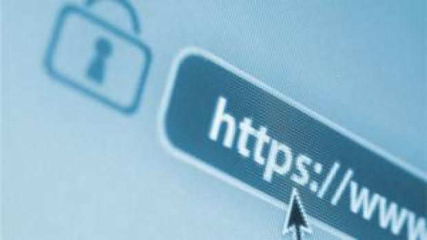 A stock image shows the HTTPS letters in an internet browser bar - often a sign that the traffic has been encrypted