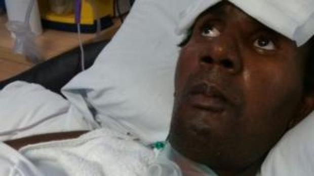 Marvin Couson in hospital