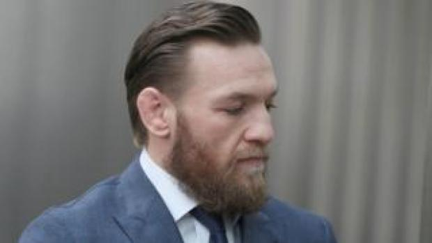 Conor McGregor walks into court in Dublin