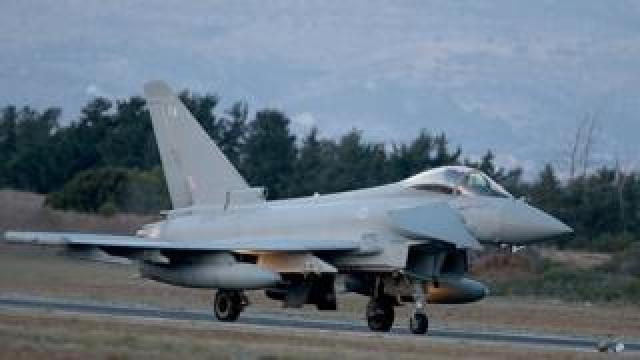 British RAF Tornado GR4 combat aircraft