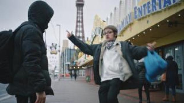 Anthony and Luke in Blackpool