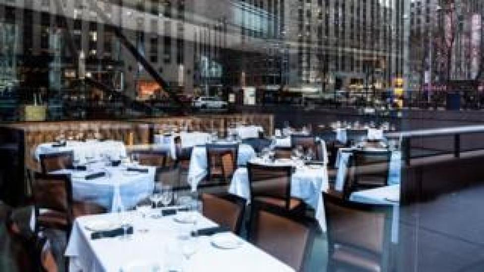 trump An empty restaurant in New York City. Photo: 13 March 2020