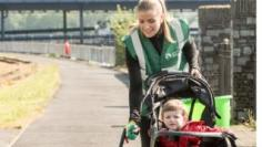 Seánna Gillespie plogging with her son Shéa