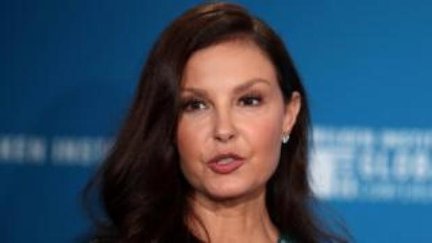Actress Ashley Judd at a conference in Beverly Hills, California, 30 April 2018
