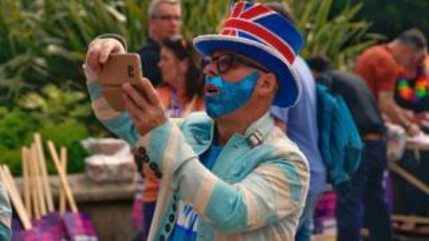 Pride festival go-er
