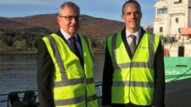 Dominic Raab and Colm Shannon