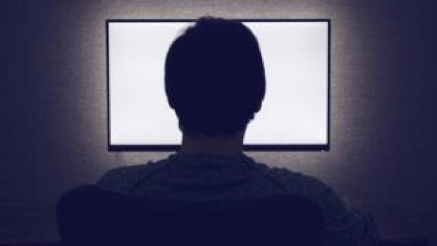 Silhoutte of computer user