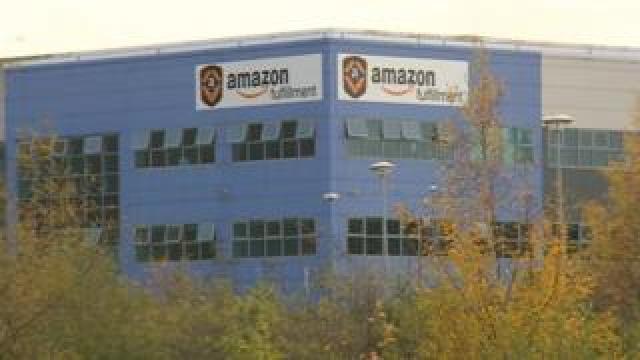 Amazon's depot in Rugeley