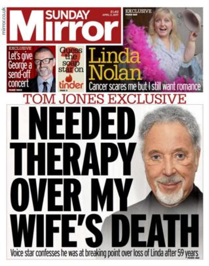 Sunday Mirror front - 02/04/17