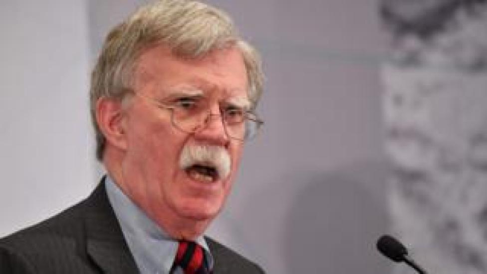 NEWS US National Security Advisor John Bolton speaks at the United Against Nuclear Iran Summit in New York