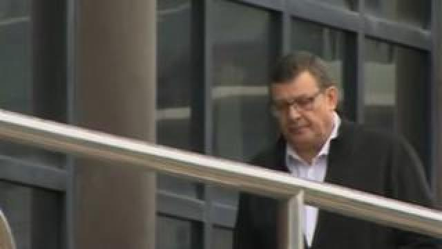 Peter McConnell entering court