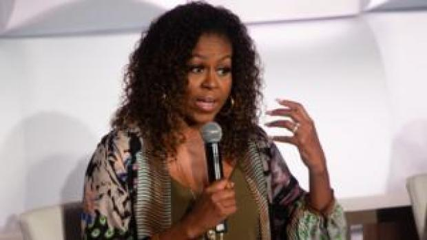 Michelle Obama is pictured at the 2019 Beating the Odds Summit