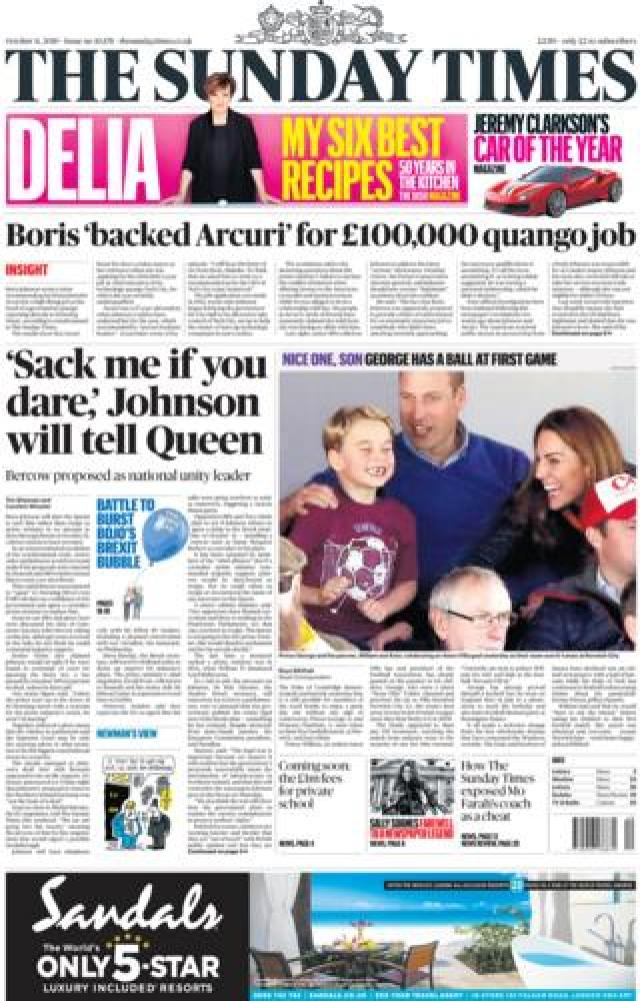 Sunday times 5 october 2019