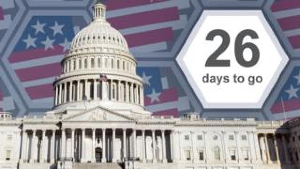 NEWS Graphic of the US Capitol building showing 26 days to go