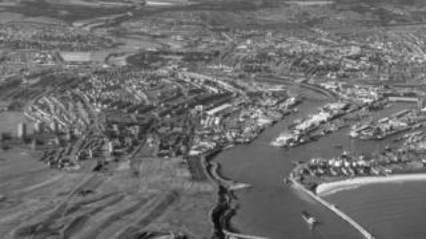 Aerial photograph of Aberdeen