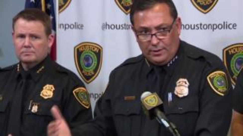Houston Police Chief Art Acevedo said the killer's motive is a 20-year-old 'grudge'