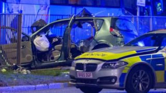Acton crash scene