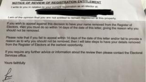 Swindon Borough Council letter