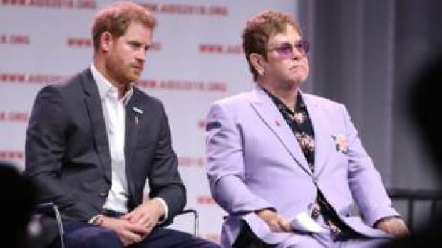 Prince Harry and Sir Elton John
