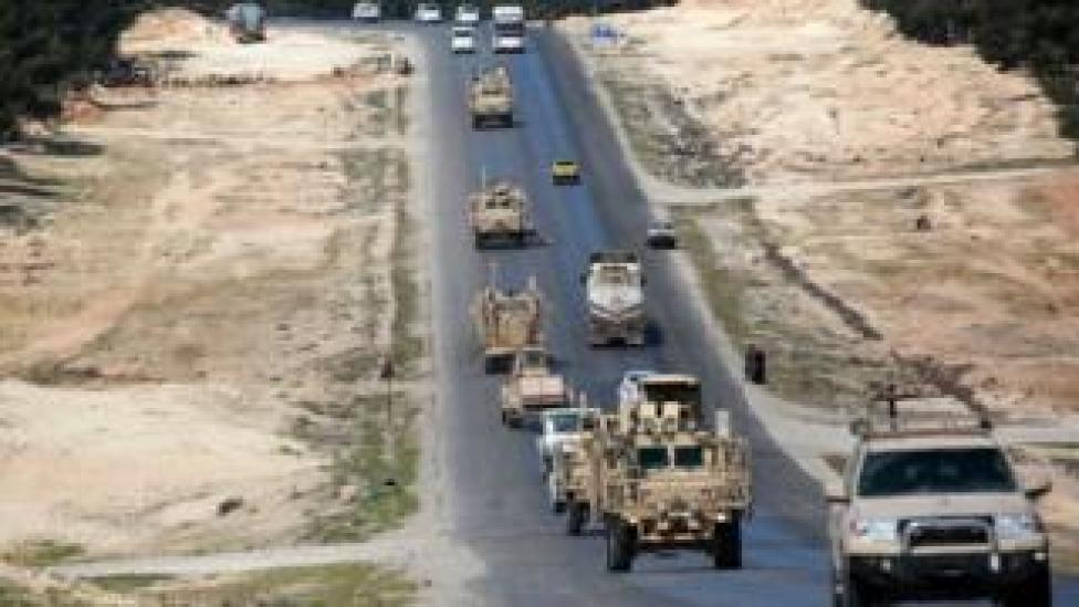 Vehículos militares de EE.UU. en Siria.