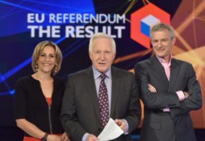 Emily Maitlis, David Dimbleby, Jeremy Vine covering the 2016 EU refernedum