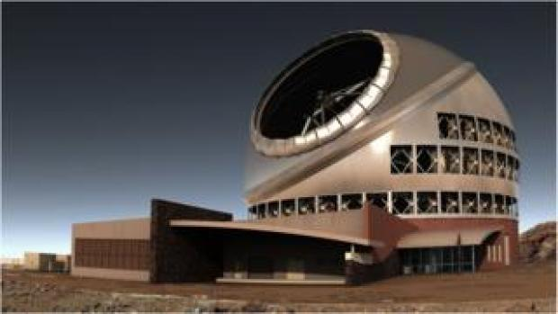 Artists rendition of finished telescope