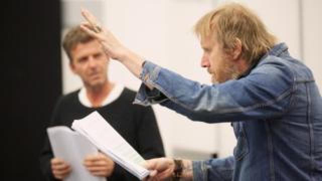 Rhys Ifans in rehearsal