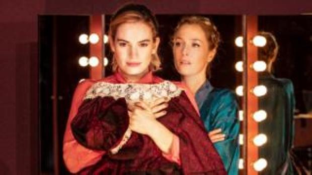 Lily James and Gillian Anderson