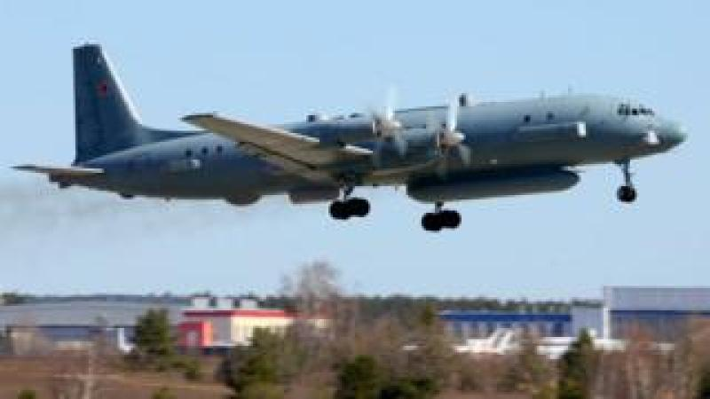 Ilyushin Il-20M 90924 reconnaissance airplane takes off at Zhukovsky